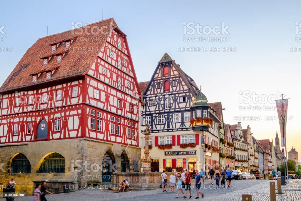 Rothenburg ob der Tauber, Herrngasse (Beieren, Duitsland) - Royalty-free Architectonisch element Stockfoto