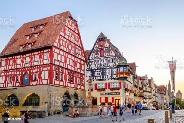 Rothenburg Ob Der Tauber Herrngasse Stockfoto en meer beelden van Architectonisch element