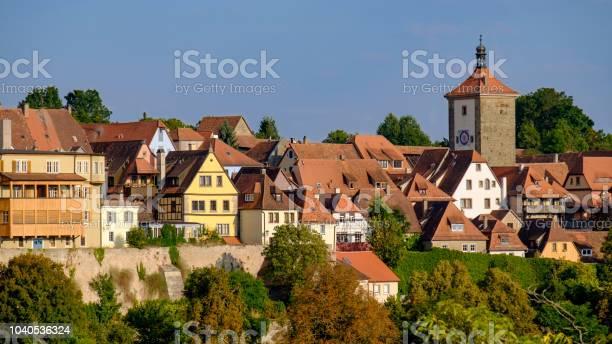 Rothenburg Ob Der Tauber Historische Centrum Stockfoto en meer beelden van 16x9-beeldverhouding