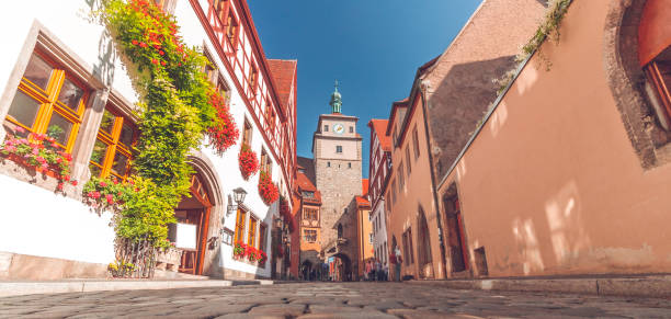 rothenburg ob der tauber - rothenburg stockfoto's en -beelden