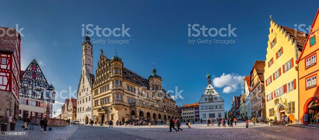 Rothenburg stadhuis ob der Tauber - Royalty-free Antiek - Toestand Stockfoto