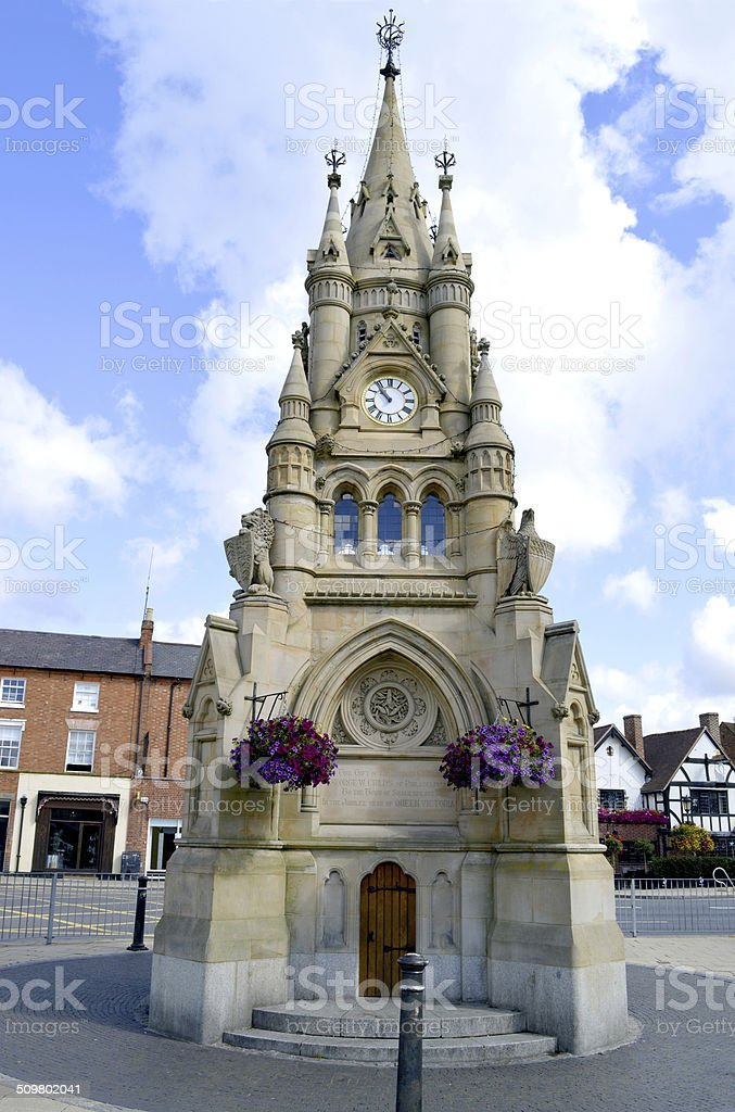 Rother Street Clock Tower in Royal Leamington Spa stock photo