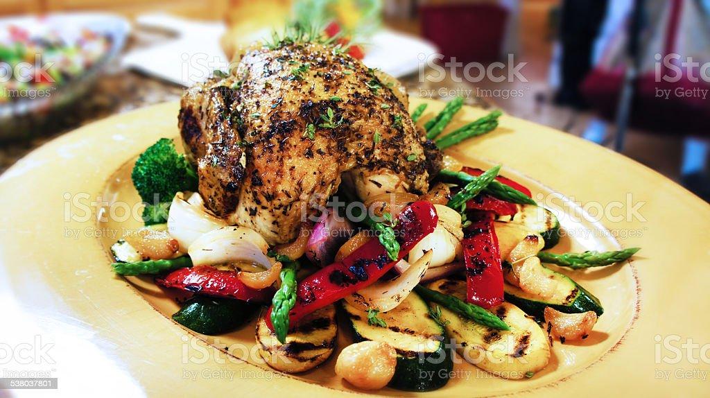 Rotisserie Chicken stock photo