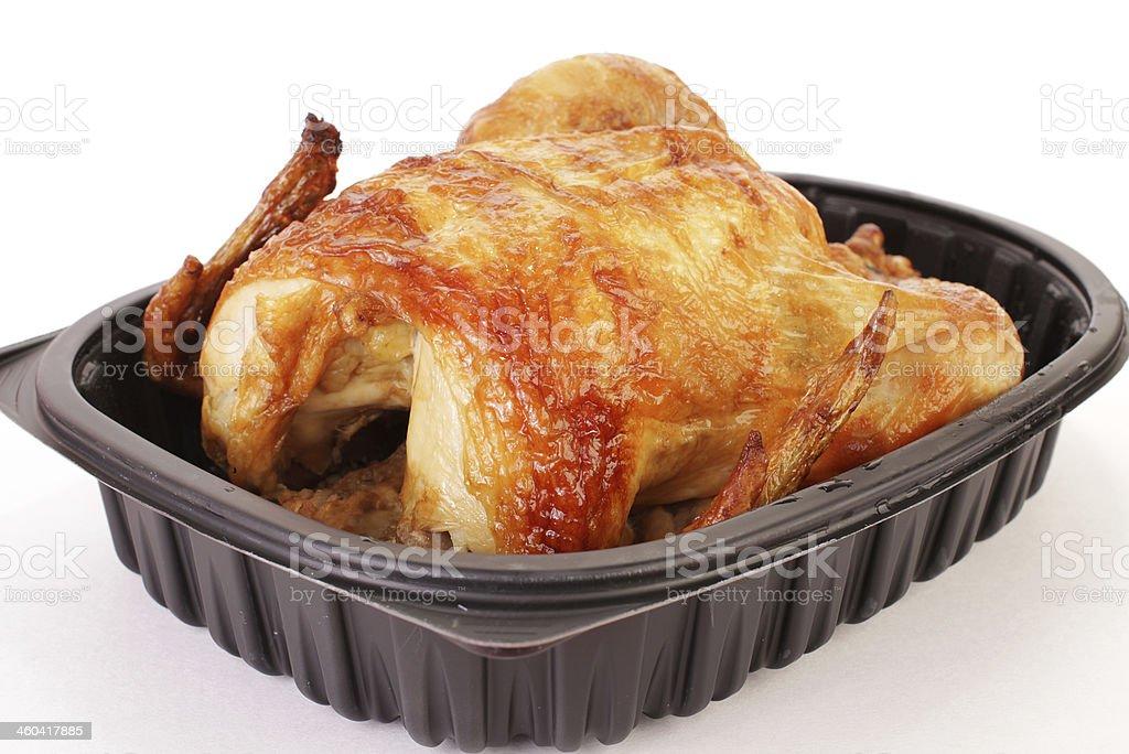 Rotisserie Chicken to Go stock photo