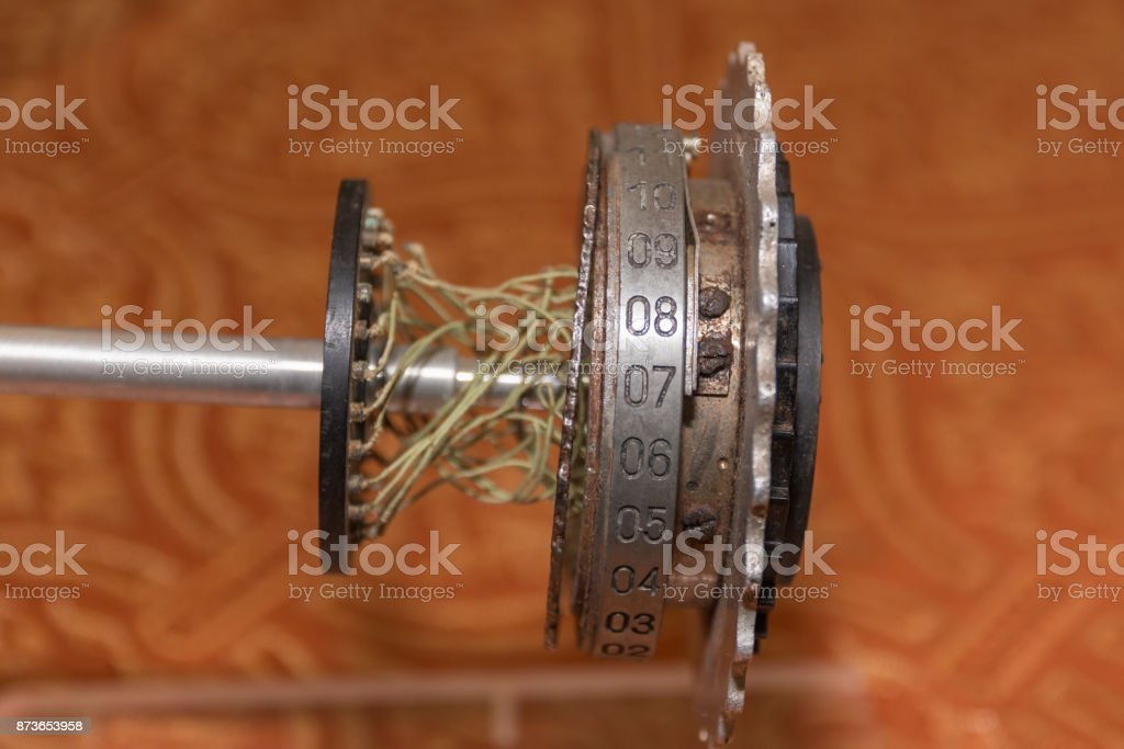 Rotor Machine, Enigma, Cipher Machine from World War II stock photo
