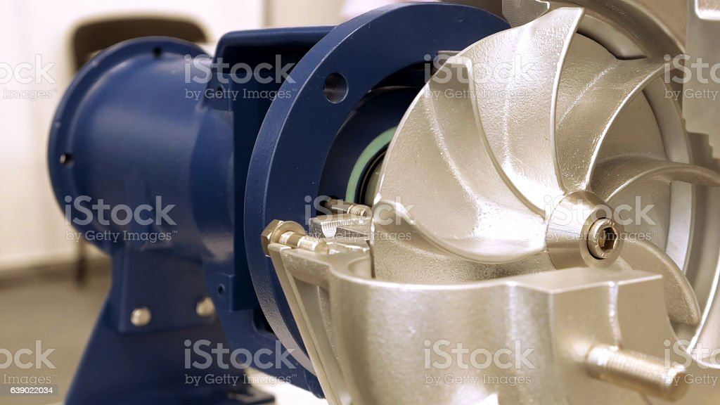 Rotor turbine electric pump for water or liquid stock photo