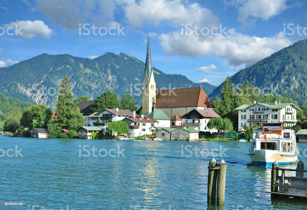 Rottach-Egern,Lake Tegernsee,upper Bavaria,Germany stock photo