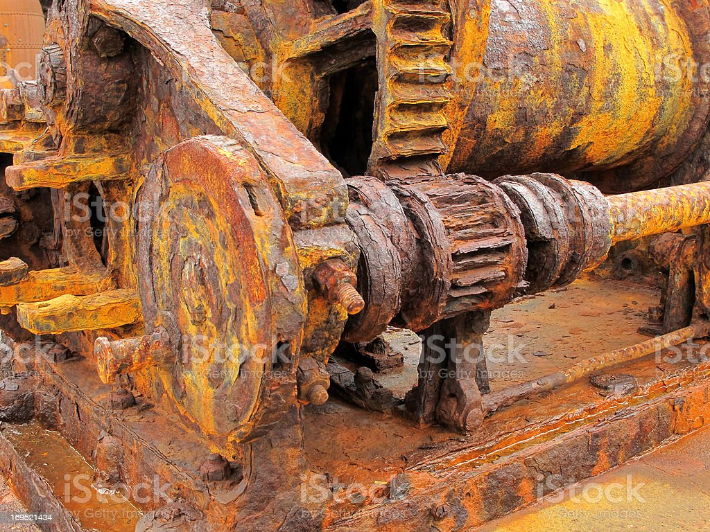 Rotten and rusted stock photo