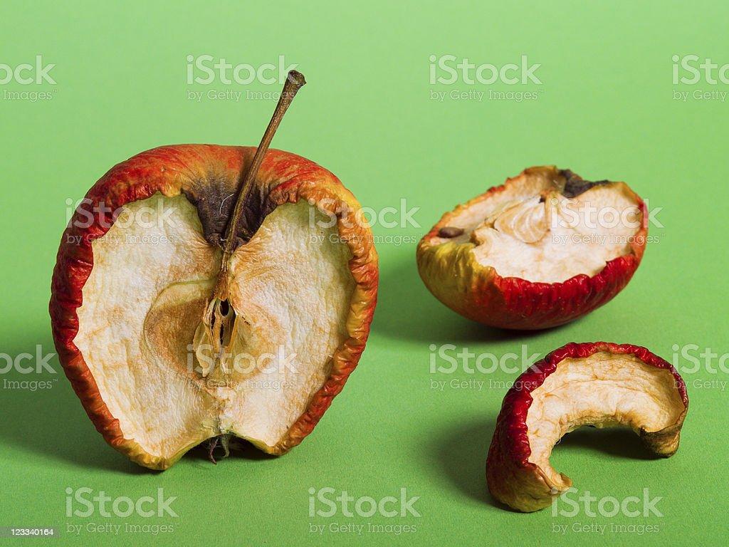 Rotten Apple royalty-free stock photo