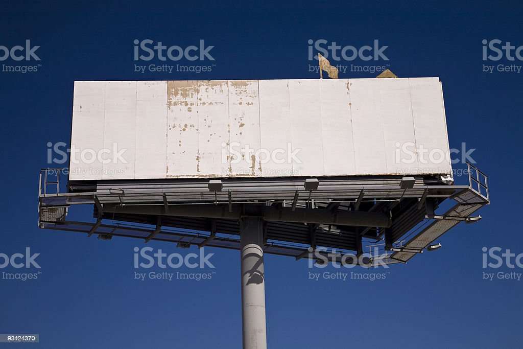 rotten blank billboard royalty-free stock photo