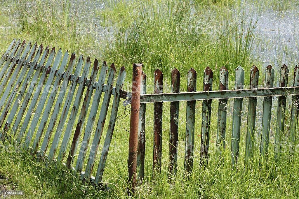 Rotten fence royalty-free stock photo