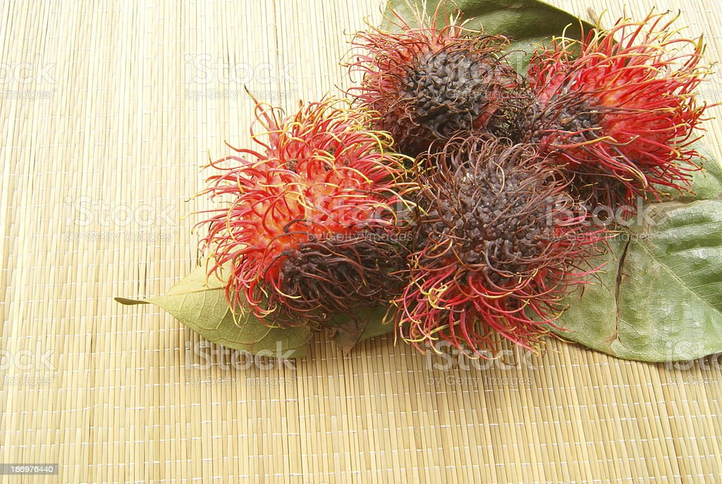 rotten fruit, rambutans royalty-free stock photo