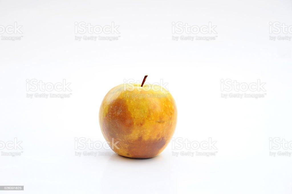 Rotten Green Apple stock photo