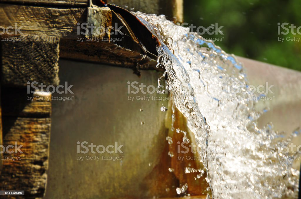 Rotten roof with leak royalty-free stock photo