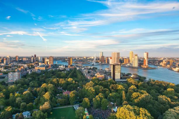 Rotterdam aerial stock photo