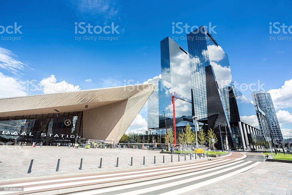 Rotterdam Central Station stock photo