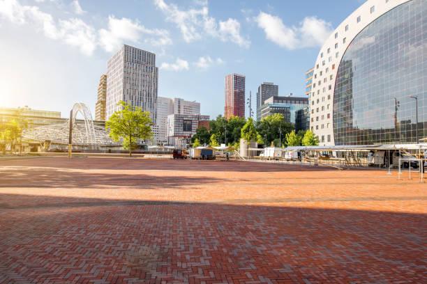 rotterdam city in netherlands - rotterdam foto e immagini stock