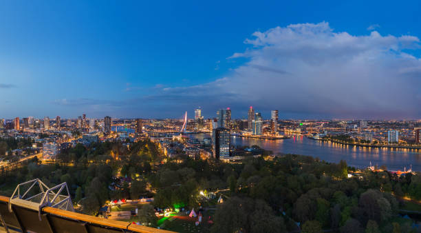 Rotterdam cityscape - Netherlands stock photo