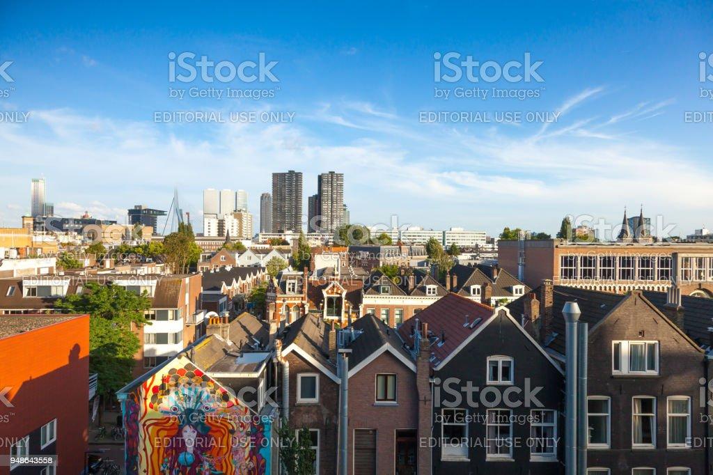 Rotterdam landmark stock photo
