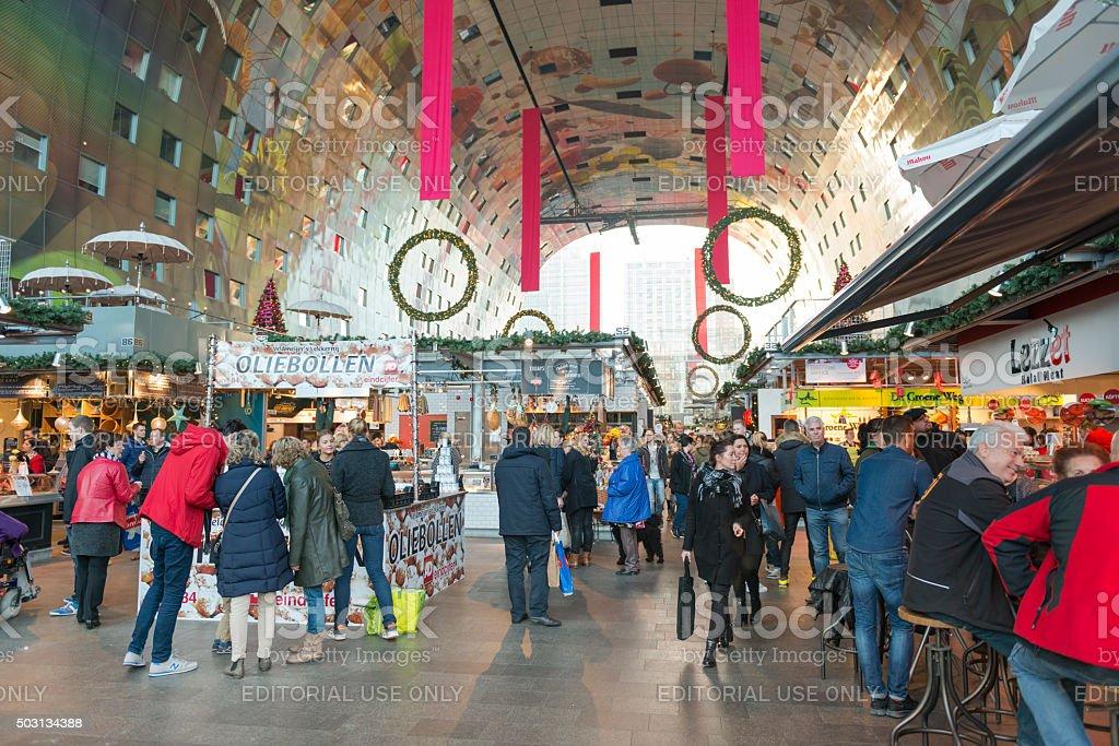 Rotterdam Markthal stock photo