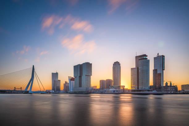 Rotterdam, Netherlands Skyline stock photo