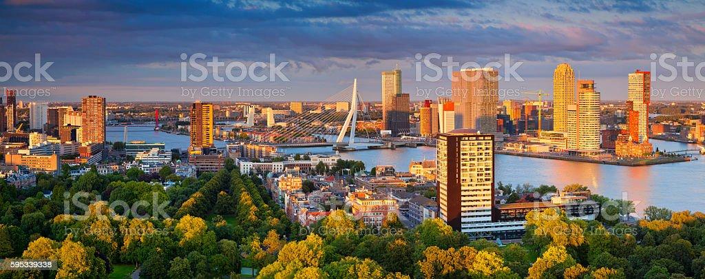 Rotterdam Panorama. stock photo