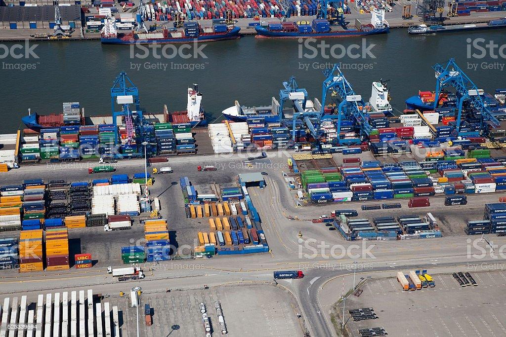 Rotterdam RSC terminal Beatrixhaven Rotterdam stock photo
