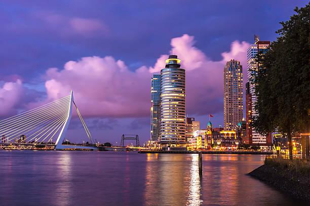 skyline di rotterdam - rotterdam foto e immagini stock