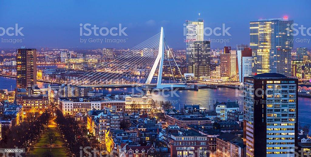 Rotterdam Skyline stock photo