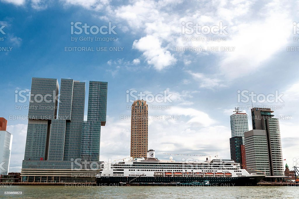 Rotterdam - The Manhattan on the Maas stock photo