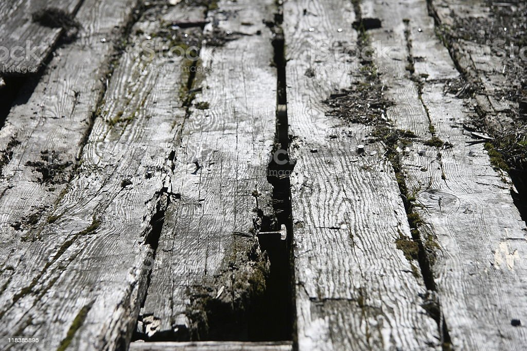 Rotting Deck Planks royalty-free stock photo