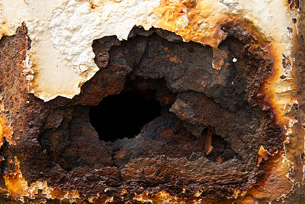 rotting metals - peeling off stock photos and pictures