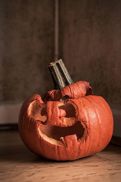 Rotting pumpkin stock photo