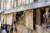 istock Rotting Timber Retaining Wall 1277918068