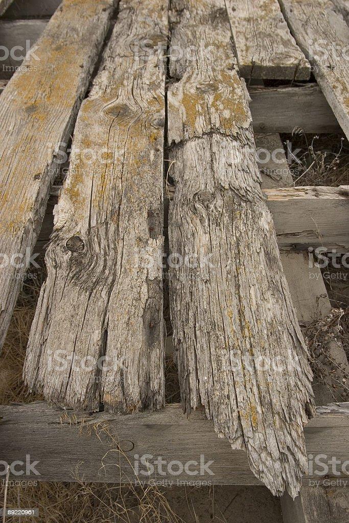 Rotting Wood Floor royalty-free stock photo