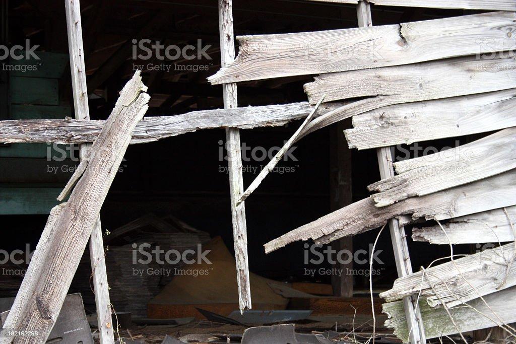 Rotting Wood Shack royalty-free stock photo