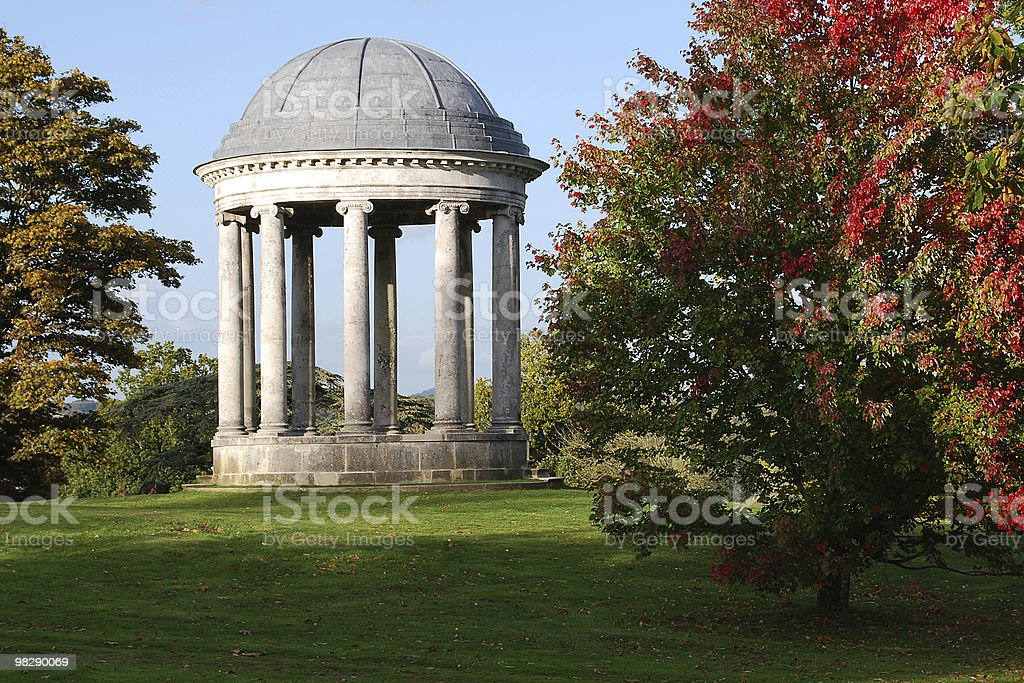 Rotunda at Petworth House, West Sussex. England royalty-free stock photo