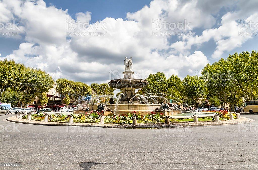 Rotunda Funtain à Aix-en-Provence - Photo
