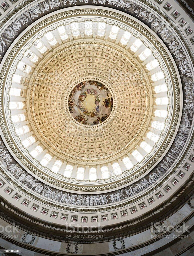 Rotunda of Capitol Building, Washington, D.C. USA stock photo