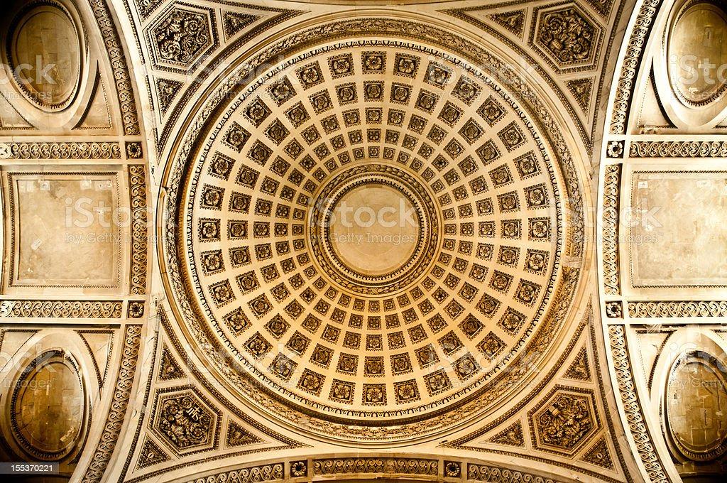 Rotunda of the Pantheon in Paris royalty-free stock photo