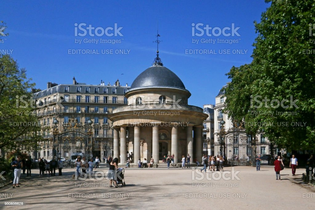 Rotunda of the Parc Monceau stock photo
