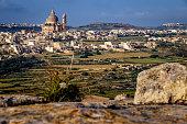 Rotunda of Xewkija, viewed from Sannat, Gozo, Malta