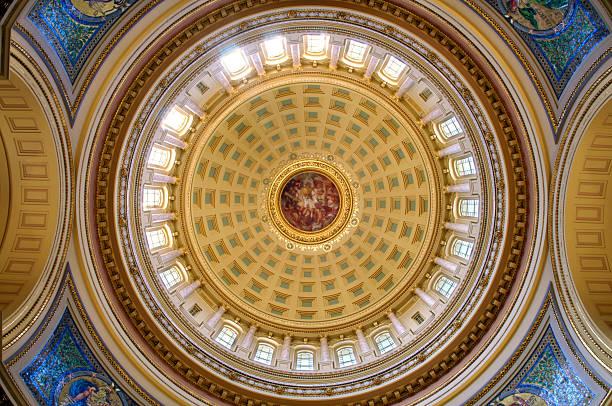Rotunda Rotunda interior of Madison state capitol in Wisconsin wisconsin state capitol stock pictures, royalty-free photos & images