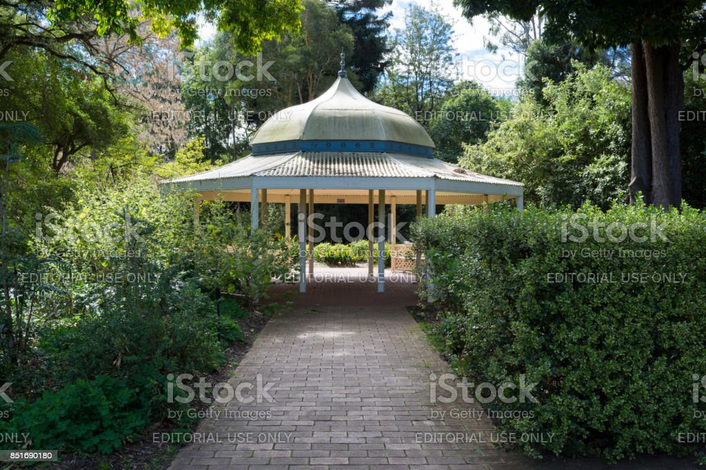 Rotunda Shelter, Adelaide Botanic Garden stock photo