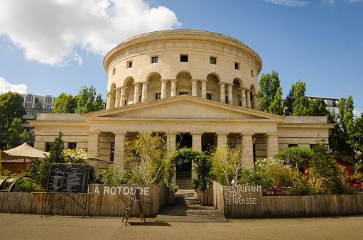 Rotunde De La Villette In Paris France Stock Photo