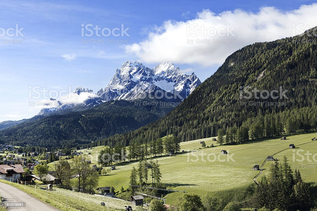 Rotwand and Hochpustertal, Alto Adige, Dolomites stock photo