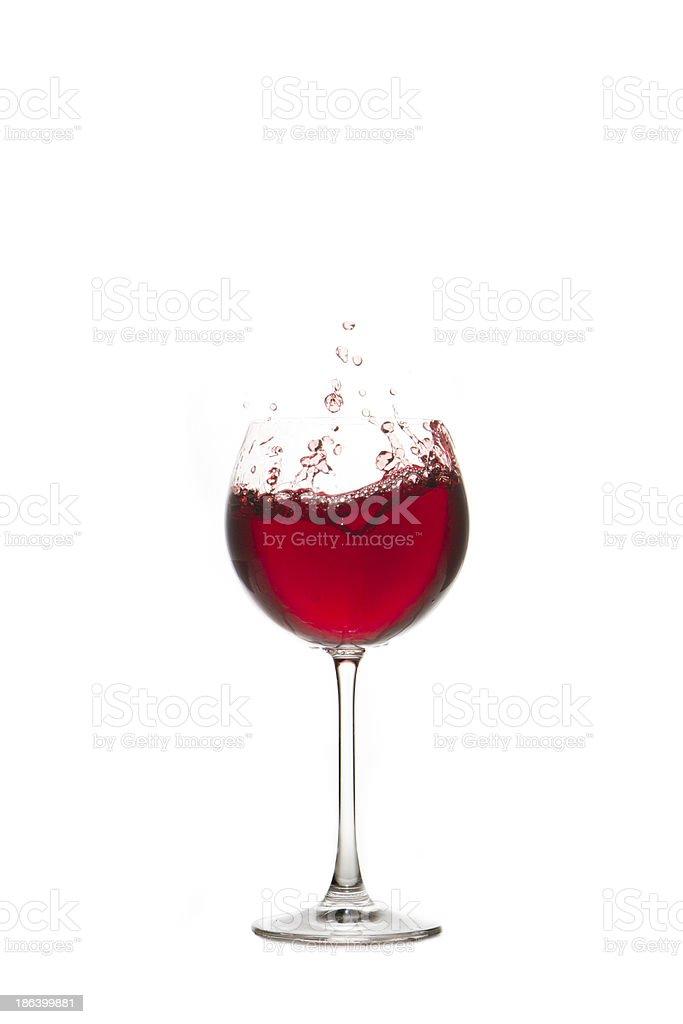 Rotwein im Glas royalty-free stock photo