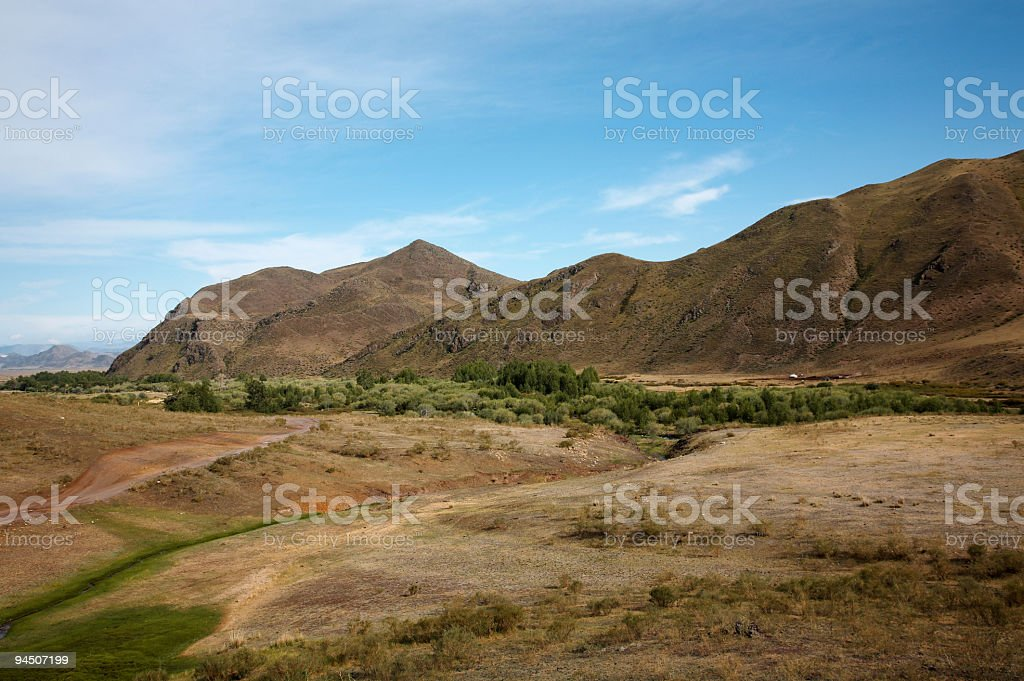 Roud West Sayan Mountains royalty-free stock photo