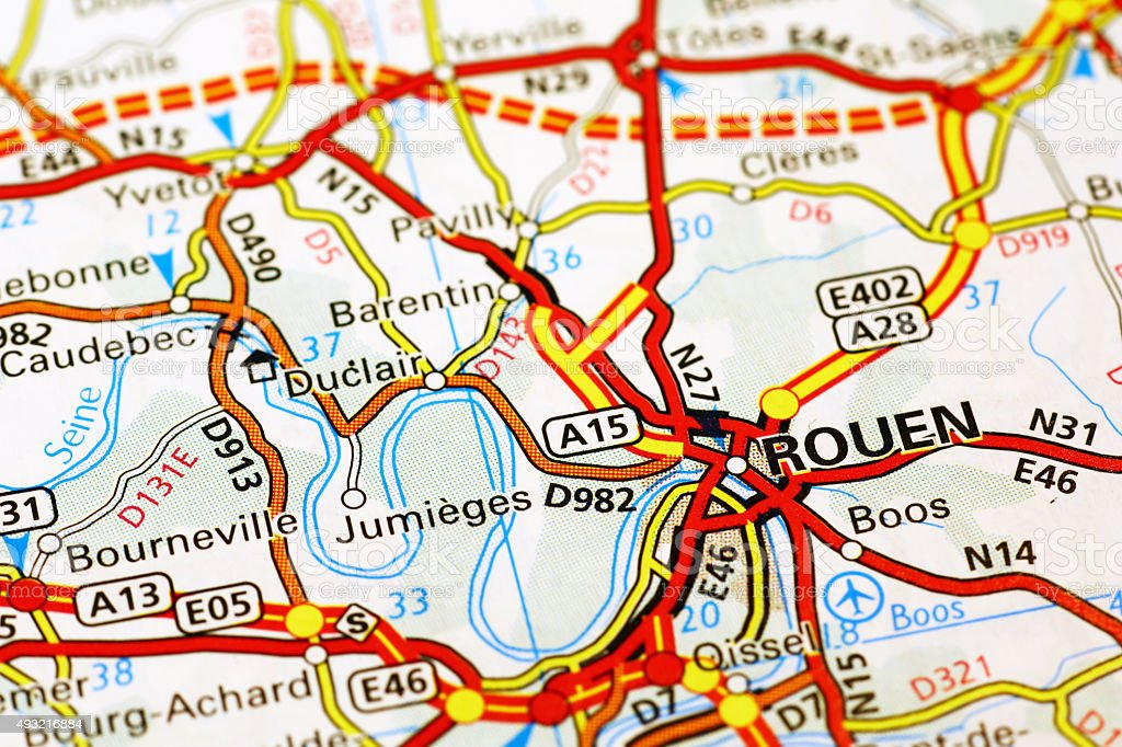 Map Of France Rouen.Rouen Area On A Map Stock Photo Download Image Now Istock
