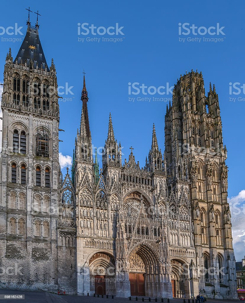 Rouen Cathedral, France royalty-free stock photo